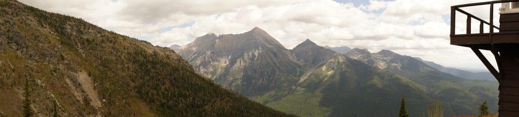 Rainbow Peak Mountain as seen from Numa Ridge Fire Lookout