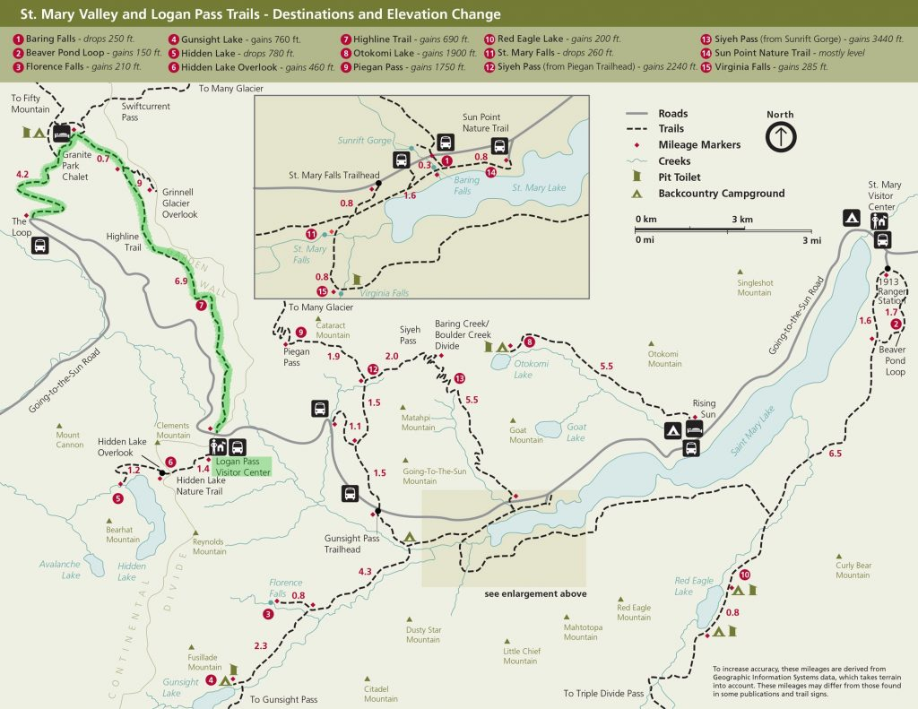 Highline to the Loop Hiking Map