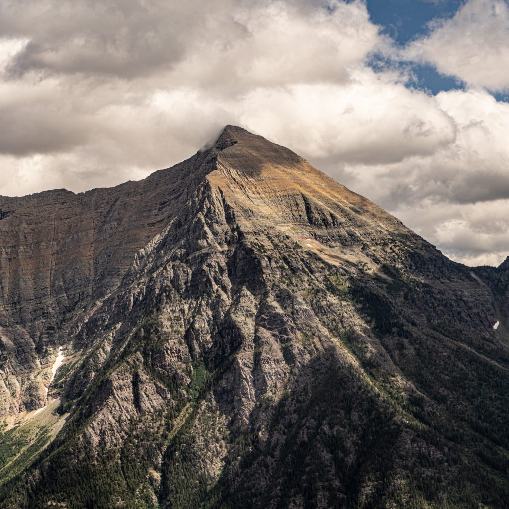 Mountain Peak in Glacier National Park